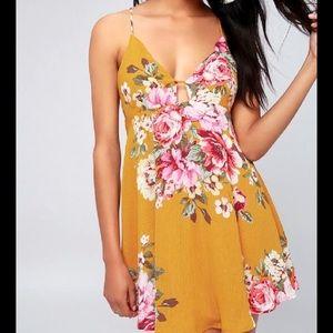Lulu's Lilly Pond Yellow Swing Dress!